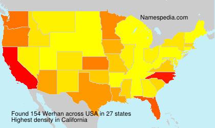 Familiennamen Werhan - USA
