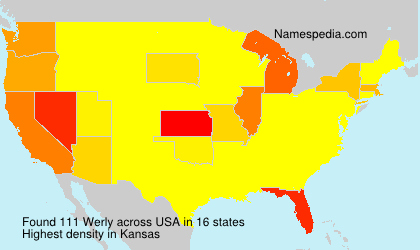 Surname Werly in USA