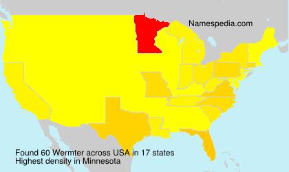 Surname Wermter in USA