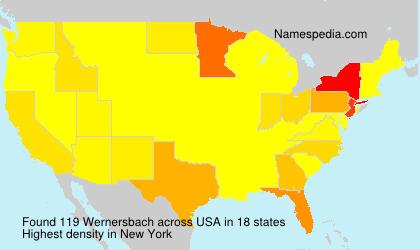 Familiennamen Wernersbach - USA