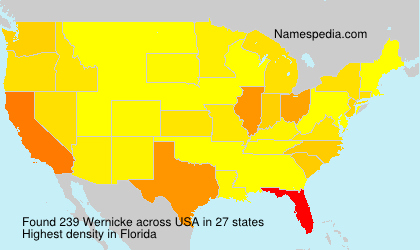 Surname Wernicke in USA