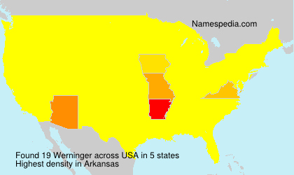 Familiennamen Werninger - USA