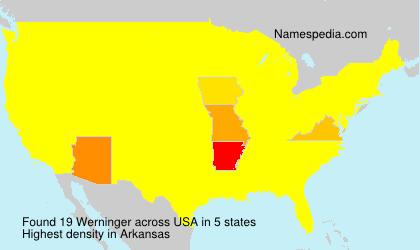 Surname Werninger in USA