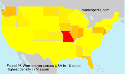Surname Werremeyer in USA