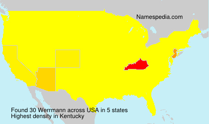 Surname Werrmann in USA