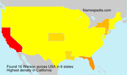 Surname Werson in USA