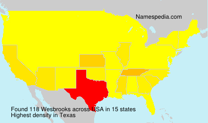 Surname Wesbrooks in USA