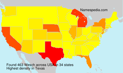Surname Wesch in USA