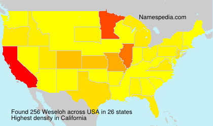 Familiennamen Weseloh - USA