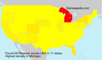Surname Wesener in USA