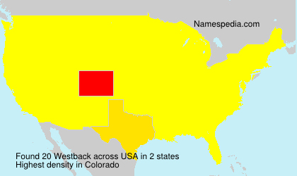 Surname Westback in USA