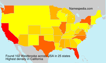 Surname Westbrooke in USA