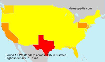 Familiennamen Westendarp - USA