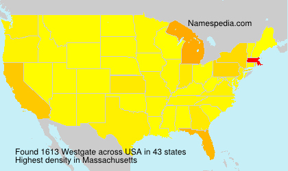 Surname Westgate in USA