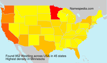 Surname Westling in USA