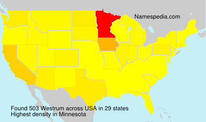 Surname Westrum in USA