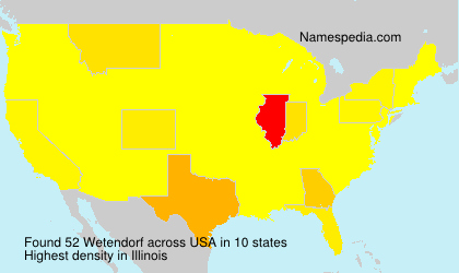 Familiennamen Wetendorf - USA