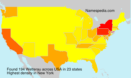 Surname Wetterau in USA