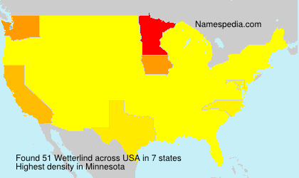 Surname Wetterlind in USA