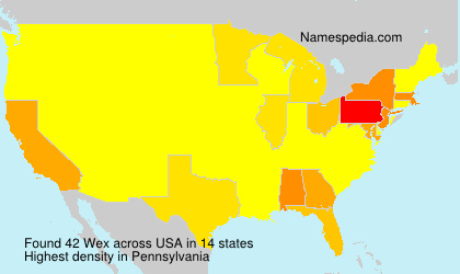 Surname Wex in USA