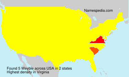 Surname Weyble in USA