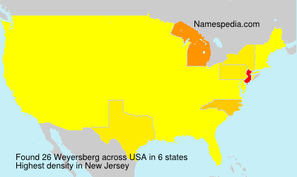 Surname Weyersberg in USA