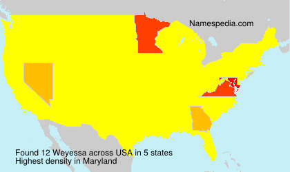 Surname Weyessa in USA