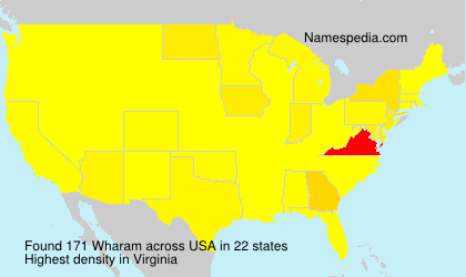 Surname Wharam in USA