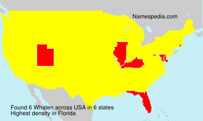 Surname Whaten in USA