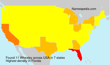 Surname Whealey in USA