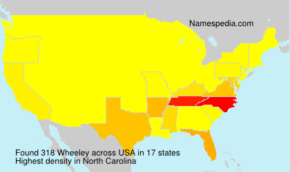 Surname Wheeley in USA