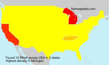 Familiennamen Whell - USA