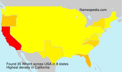 Surname Whent in USA