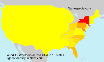 Familiennamen Whethers - USA