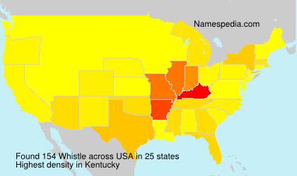 Familiennamen Whistle - USA