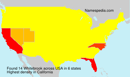 Surname Whitebrook in USA
