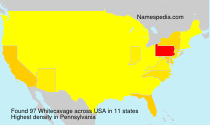 Surname Whitecavage in USA