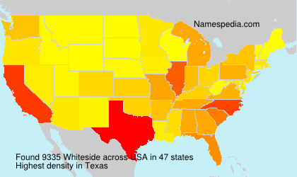 Surname Whiteside in USA