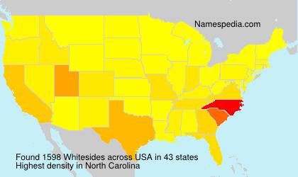 Surname Whitesides in USA