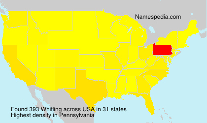 Surname Whitling in USA