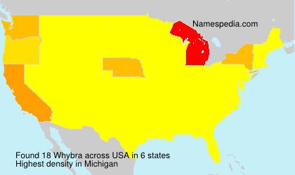 Surname Whybra in USA