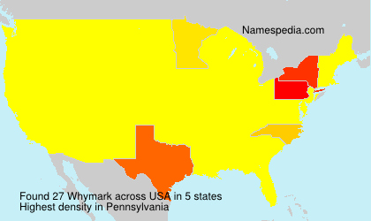 Familiennamen Whymark - USA