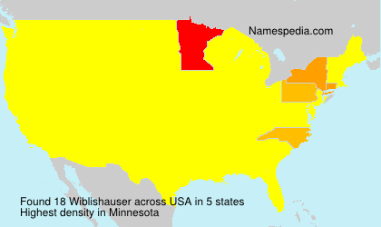 Surname Wiblishauser in USA