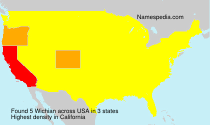 Surname Wichian in USA