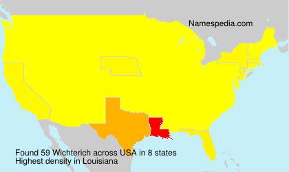 Familiennamen Wichterich - USA