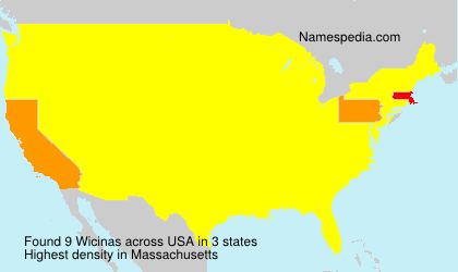 Surname Wicinas in USA