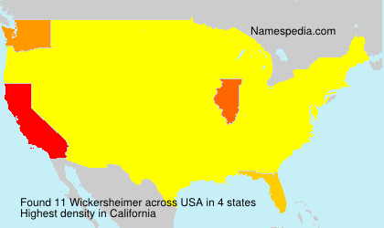 Surname Wickersheimer in USA