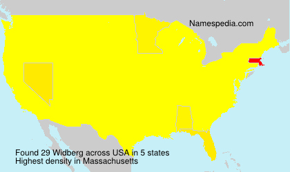 Surname Widberg in USA