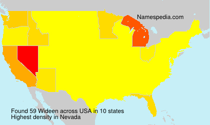 Surname Wideen in USA