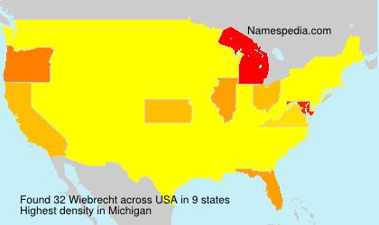 Surname Wiebrecht in USA